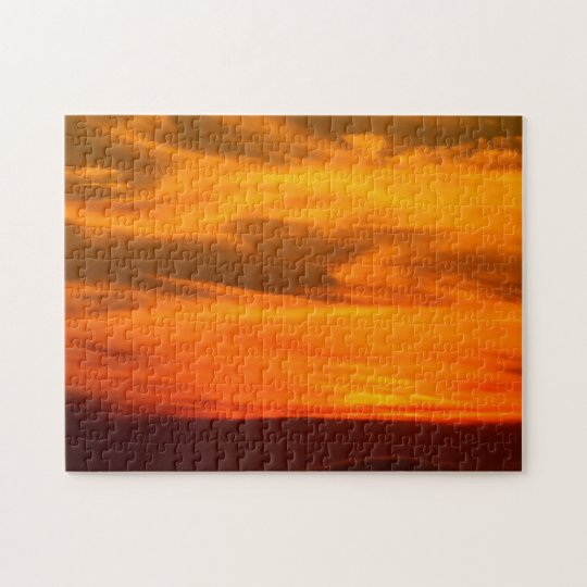 San Diego Brilliant Yellow Orange Red Sunset Jigsaw Puzzle