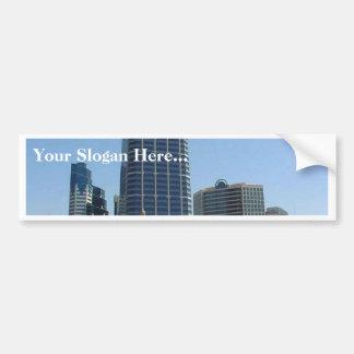 San Diego Buildings High Rise Skyline Bumper Sticker