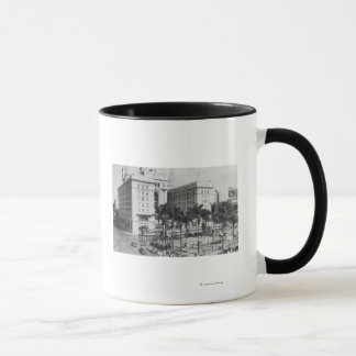 San Diego, CA City View of US Grant Hotel Mug
