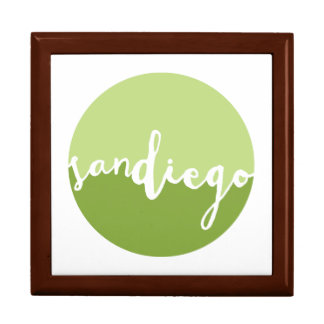 San Diego, CA | Green Ombre Circle Large Square Gift Box