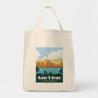 San Diego, CA Grocery Tote Bag