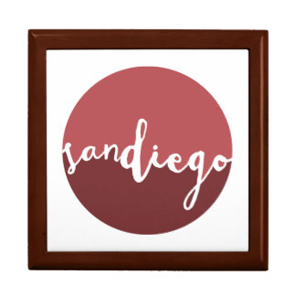 San Diego, CA | Rust Ombre Circle Large Square Gift Box