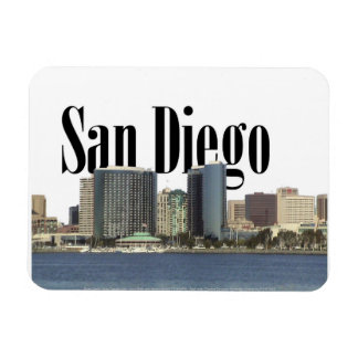 San Diego CA Skyline with San Diego in the Sky Magnet