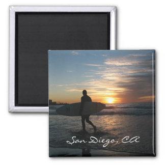 San Diego, CA Square Magnet