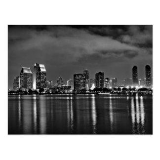 San Diego California at Night Postcard