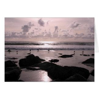 San Diego California beach sunset Greeting Card