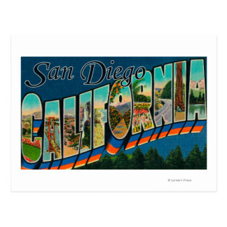 San Diego, California - Large Letter Scenes 2 Postcard