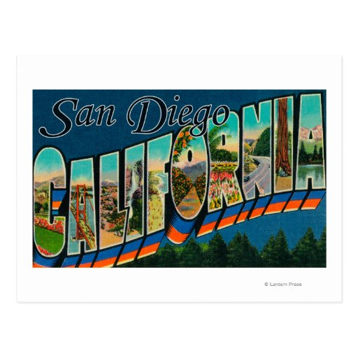 San Diego, California - Large Letter Scenes 2 Post Card