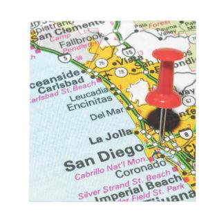 San Diego, California Notepad