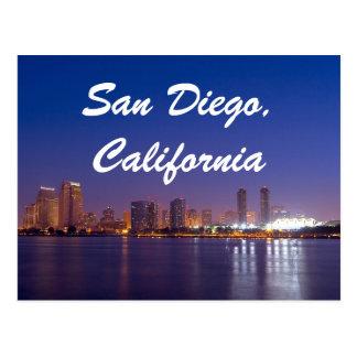 San Diego California Post Card Skyline Sunrise