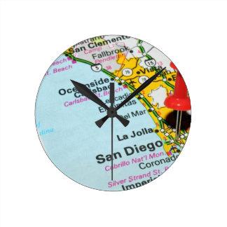San Diego, California Round Clock