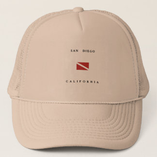San Diego California Scuba Dive Flag Trucker Hat
