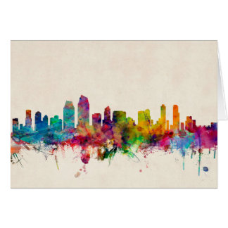 San Diego California Skyline Greeting Cards