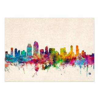 San Diego California Skyline Personalized Invitations