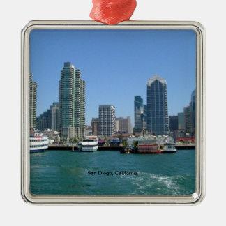San Diego, California Skyline Metal Ornament