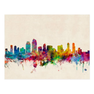 San Diego California Skyline Postcard