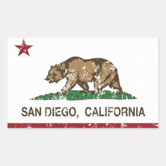San Diego California state flag Sticker