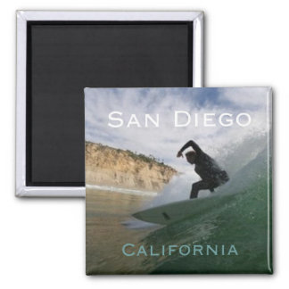 San Diego California Surfing Fridge Magnets