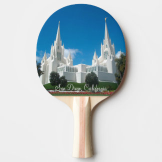 San Diego California Temple Ping Pong Paddle