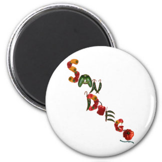 San Diego Chili Peppers Magnet