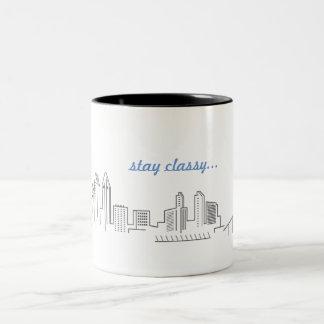 San Diego City Skyline Stay Classy Coffee Mug