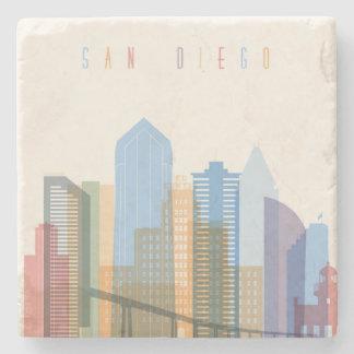 San Diego City Skyline Stone Coaster