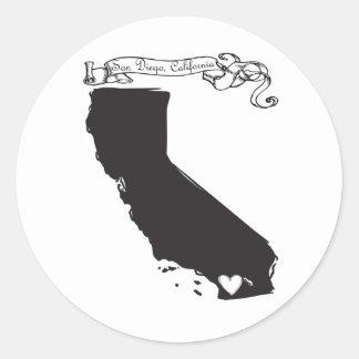 San Diego Classic Round Sticker