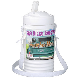 San Diego Corgi Meetup 1 Quart Beverage Cooler