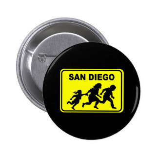 San Diego Crossing 6 Cm Round Badge