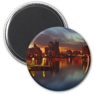 San Diego Docks Night Magnet