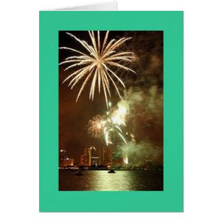 San Diego Fireworks Greeting Card