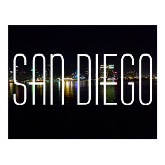 San Diego harbor postcard