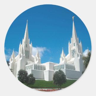 San Diego LDS Temple Round Sticker