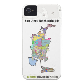 San Diego Neighborhoods iPhone 4 Case