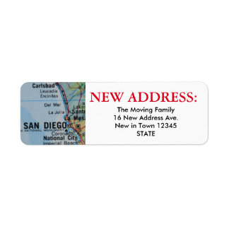 San Diego New Address Label