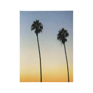 San Diego Palms Wood Poster