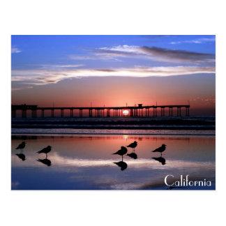 San Diego Pier at Sunset Postcard