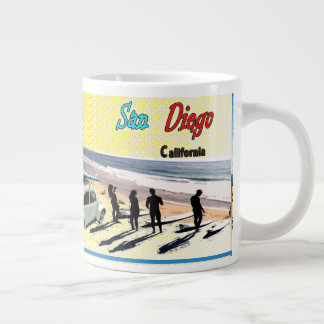 San Diego Postcard Large Coffee Mug