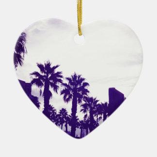San Diego Purple Ceramic Ornament