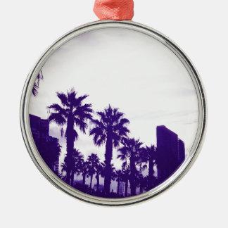 San Diego Purple Metal Ornament