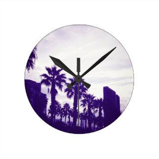 San Diego Purple Round Clock