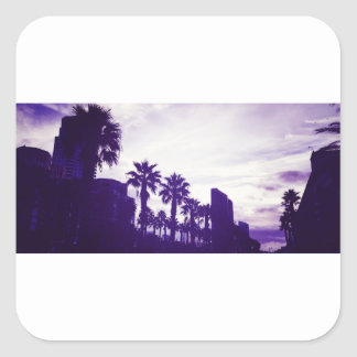 San Diego Purple Square Sticker