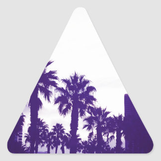 San Diego Purple Triangle Sticker