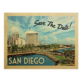 San Diego Save The Date California Postcard