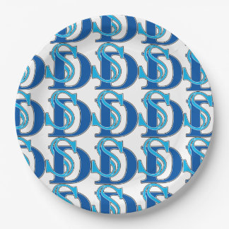 San Diego SD Logo Paper Plate