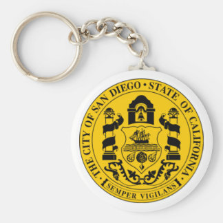 San Diego Seal Basic Round Button Key Ring