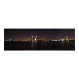 San Diego Skyline at night Photo Print