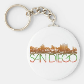 San Diego Skyline Design Key Ring