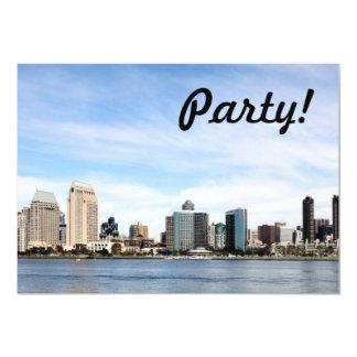 "San Diego Skyline 5"" X 7"" Invitation Card"