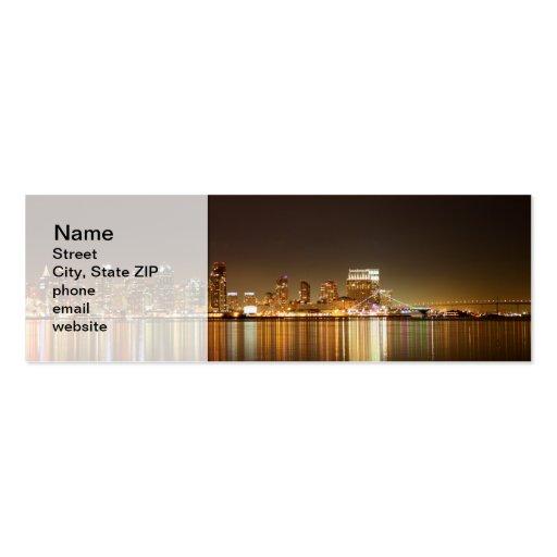 San Diego Skyline Night Business Card